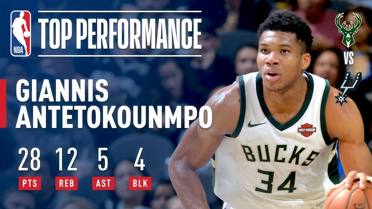 Giannis Antetokounmpo Rallies Bucks to Win Over Spurs  92bce1d4d