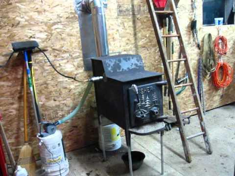 Homemade Waste Oil Burner Youtube