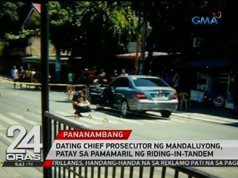 Dating chief prosecutor ng Mandaluyong, patay sa pamamaril ng riding-in-tandem