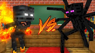 Monster School : WITHER VS ENDERMAN CHALLENGE - Minecraft Animation