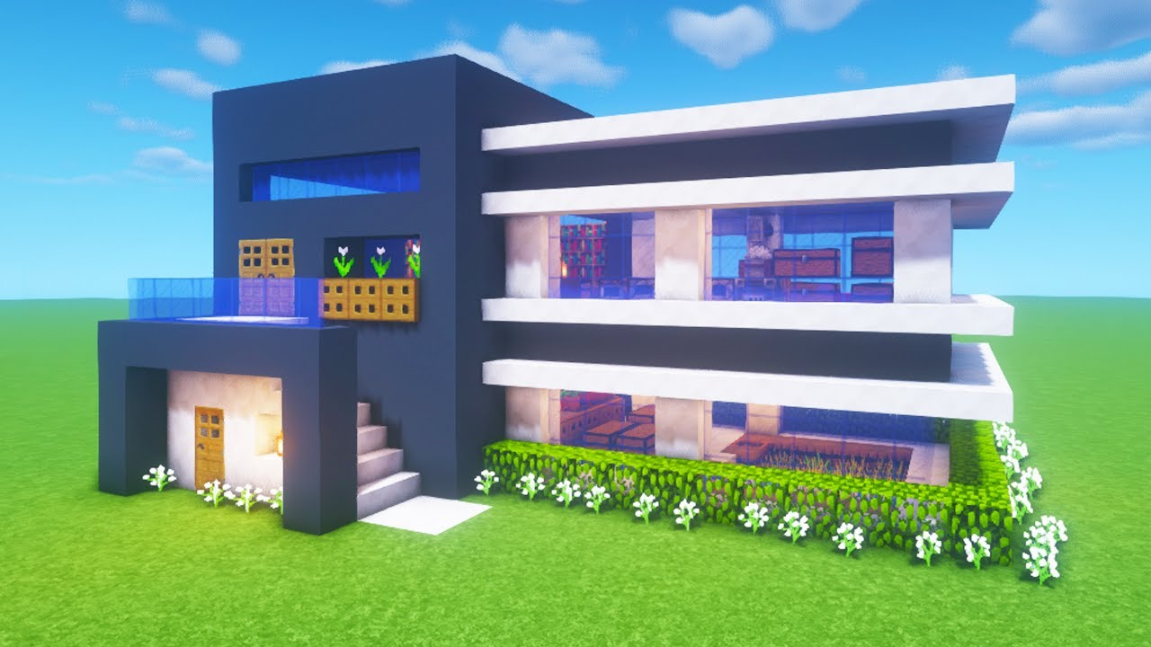 """Minecraft Tutorial: How To Make A Modern House 2 """"2020 ..."""