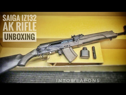Saiga IZ-132 7.62x39 AK Rifle - Unboxing & Overview