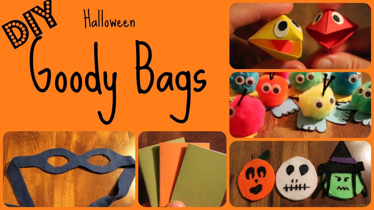 halloween goody bags : 5 fun crafts - youtube