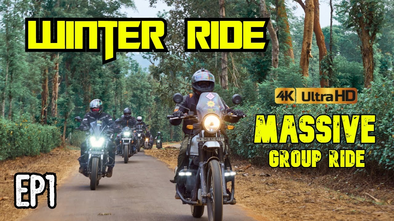 MASSIVE Group Ride With 30 Riders | Chennai To Wayanad | WINTER RIDE EP1 | Tamil | Number Plate