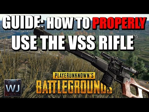 GUIDE: How to PROPERLY use the VSS Sniper Rifle in PLAYERUNKNOWN's BATTLEGROUNDS (PUBG)