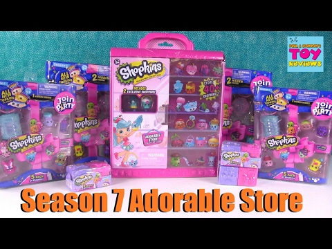 Shopkins Adorable Store Collectors Case Season 7 Unboxing  PSToyReviews
