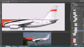 Airlines Livery Painting in Photoshop - Tips