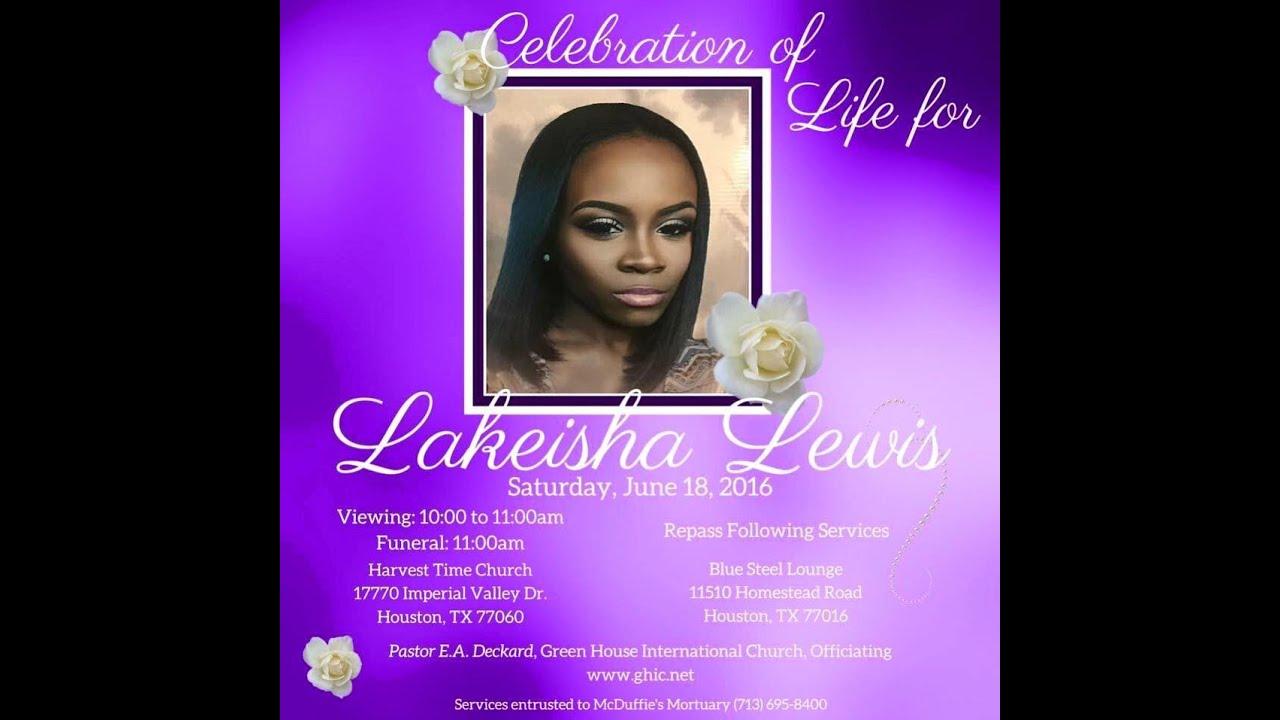 celebration of life for lakeisha lewis