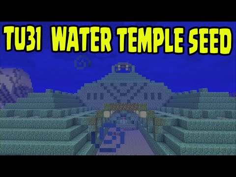 MINECRAFT PS3, PS4, Xbox, Wii U - WATER TEMPLE / Monuments SURVIVAL SEED (TU31 / 1.8)