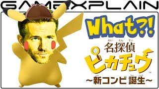 Ryan Reynolds is Detective Pikachu in the Live-Action Pokémon Movie!
