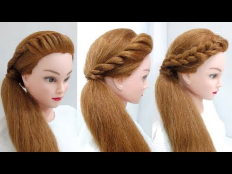 easy to do hair style side twist ponytail 4 attractive looks easy hairstyles 8232