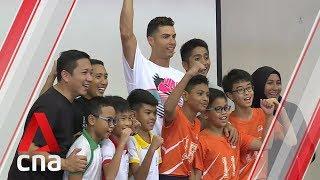 Cristiano Ronaldo visits Singapore primary school