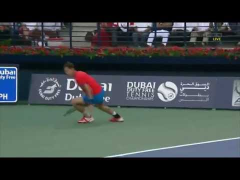 Andy Murray // Outstanding defence against Djokovic in Dubai SF