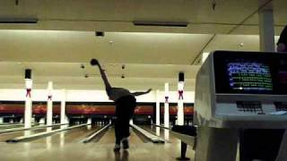 5 Pin Bowling Canada (with close up pin action)