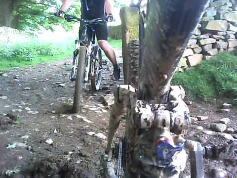 MTB Downhill Ladybower rear shock cam
