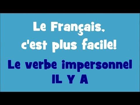 Le Français, c\u0027est plus facile! , 1/21 Le verbe impersonnel