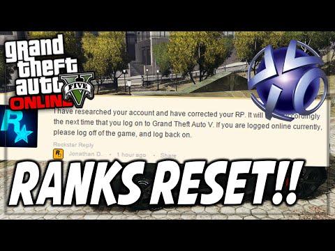 GTA 5 Online Ranks Getting RESET Glitch! (GTA 5 Rockstar Reset Rank)