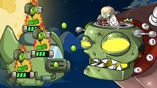 Plants Vs Zombies Star Wars - New Space Ship Battle With Dr Zomboss - PVZ Tower Defense