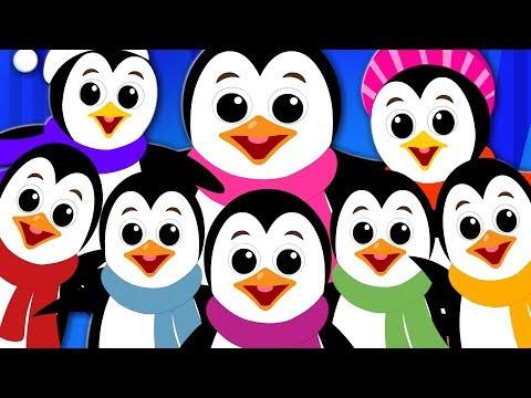 Ten Little Penguins | Song For Kids | Kindergarten Nursery Rhymes For Babies