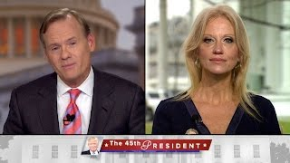 """Conway talks """"disappointing"""" argument over inaugural crowd size"""