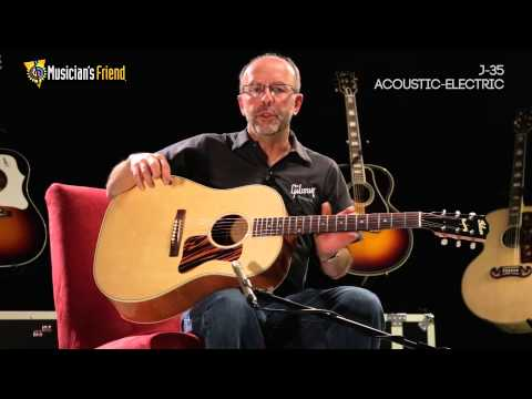 Gibson J-35 Acoustic-Electric Guitar, demo'd by Don Ruffatto