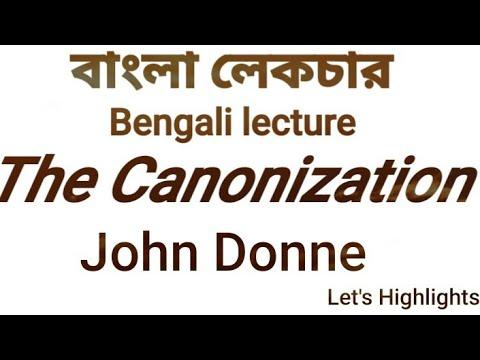 the canonization john donne theme