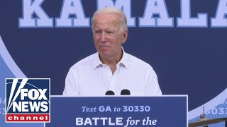 Biden team says Georgia rally was largest event since returning to campaign trail