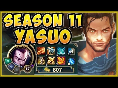 WTF! 240% CRIT SEASON 11 YASUO GIVES 475 ON-HIT DAMAGE?? YASUO TOP GAMEPLAY! League of Legends