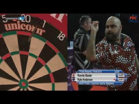 2017 German Darts Masters Round 1 Baxter vs K.Anderson