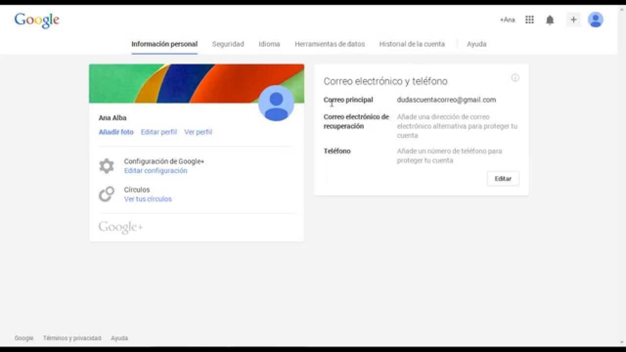 Google Gmail Cambiar La Contraseña De Correo Electrónico