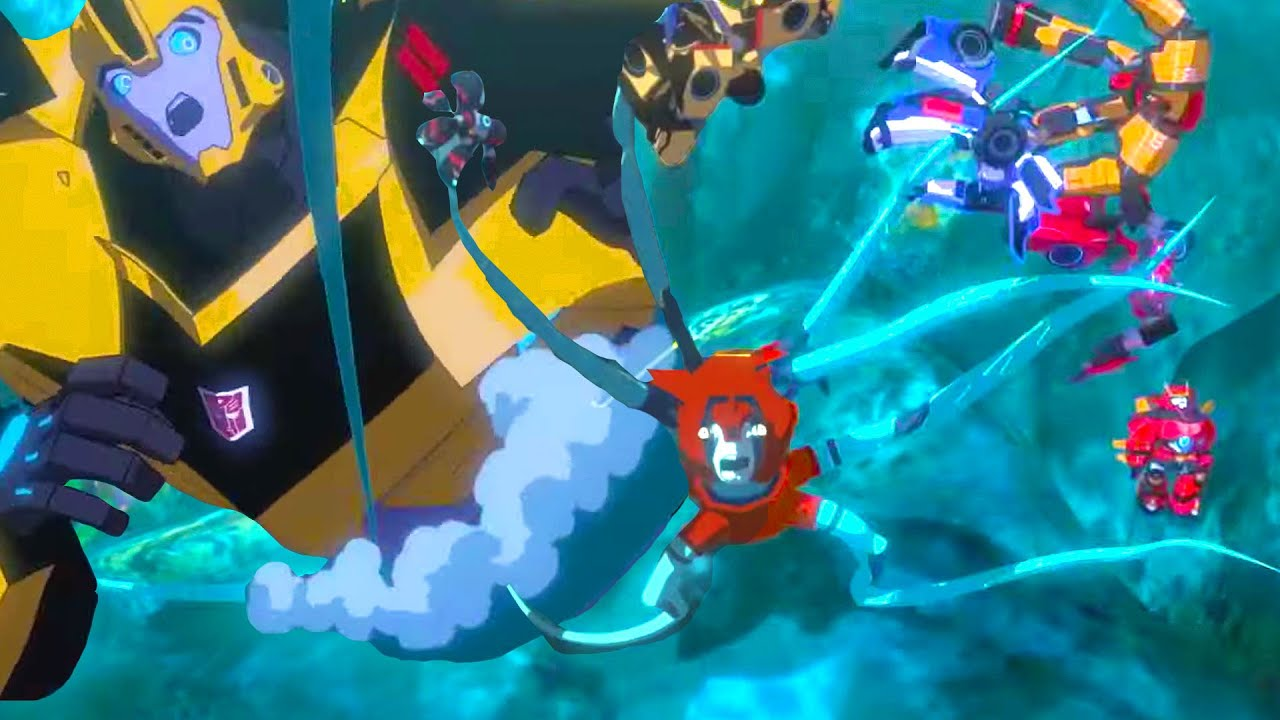 Underwater Dangers 💧 Transformers Decepticon Island | Robots in Disguise | Transformers Official