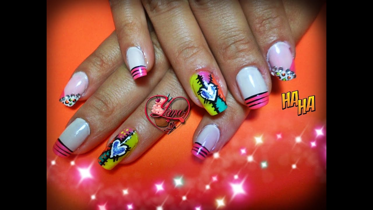 Decoraciones de u as yana nail art youtube for Decoracion unas