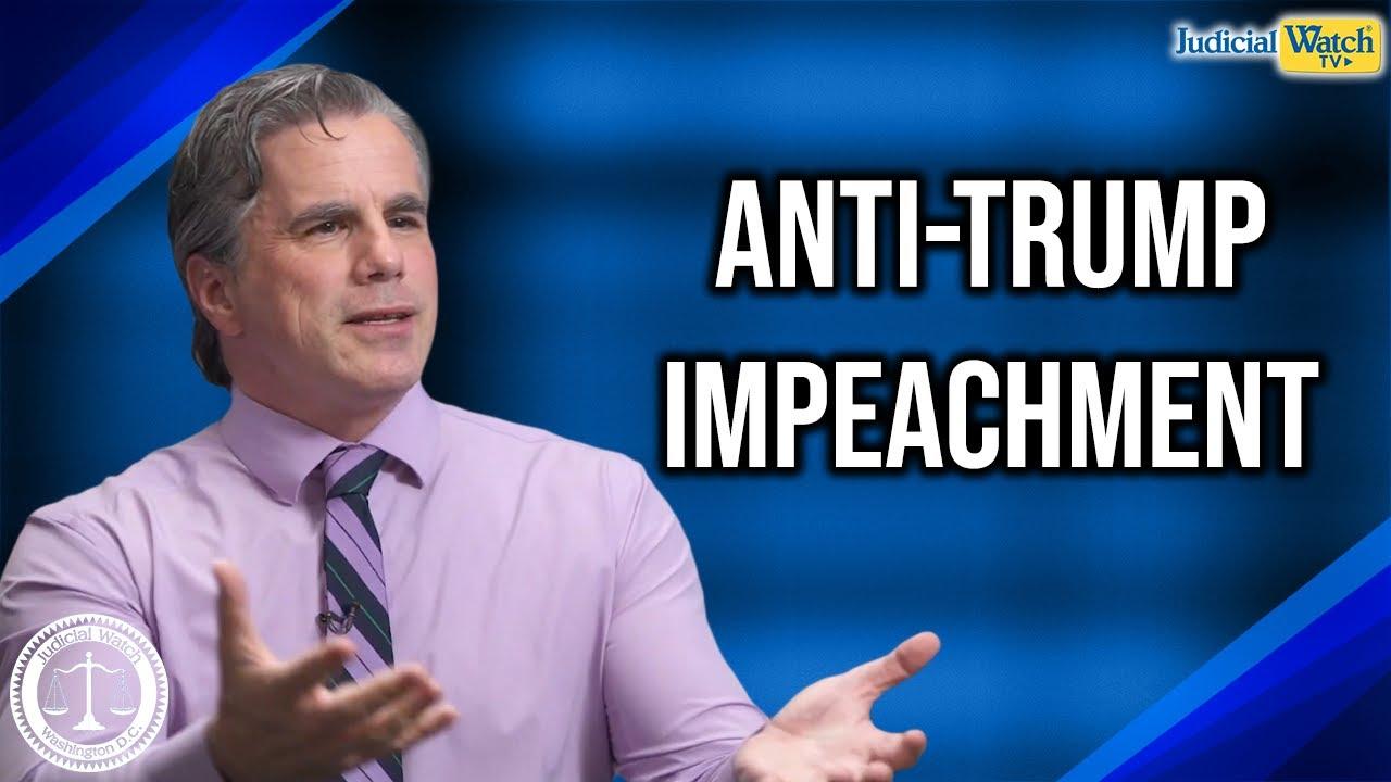 "Judicial Watch Tom Fitton: Anti-Trump Impeachment Hearings an ""Abomination unto the Constitutio"