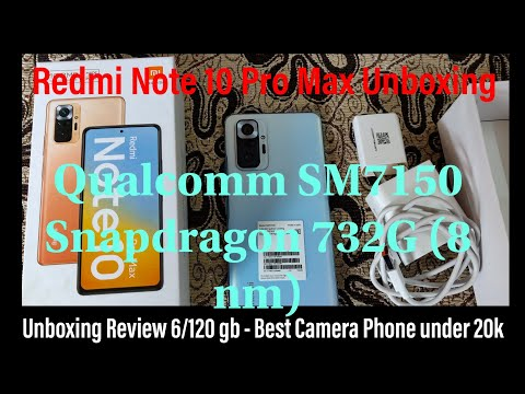Redmi Note 10 Pro Max (Glacial Blue, 6GB RAM, 128GB Storage) Unboxing/Review || Best Camera Phone