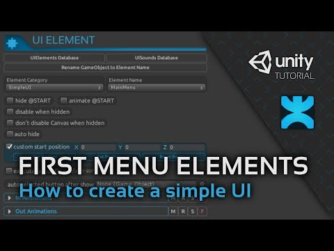 How to create a simple UI in Unity - 2 - First Menu Elements - DoozyUI Video Tutorial