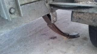 Поломка рессоры на прицепе легковом