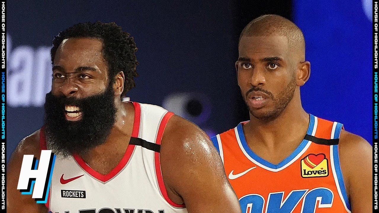 Houston Rockets vs Oklahoma City Thunder - Full Game 3 Highlights | August  22, 2020 NBA Playoffs - YouTube