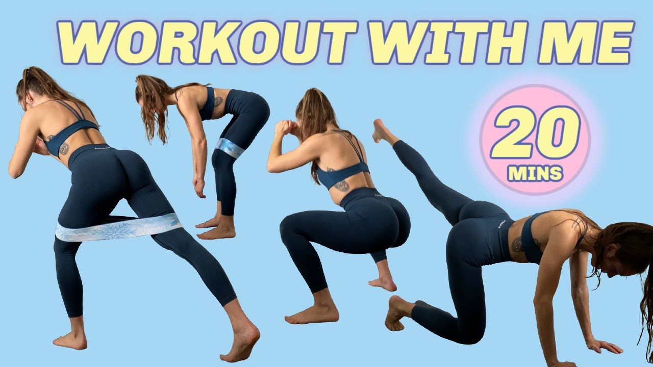 INTENSE GLUTE WORKOUT | no equipment, no jumping, at home, real time 20 min workout
