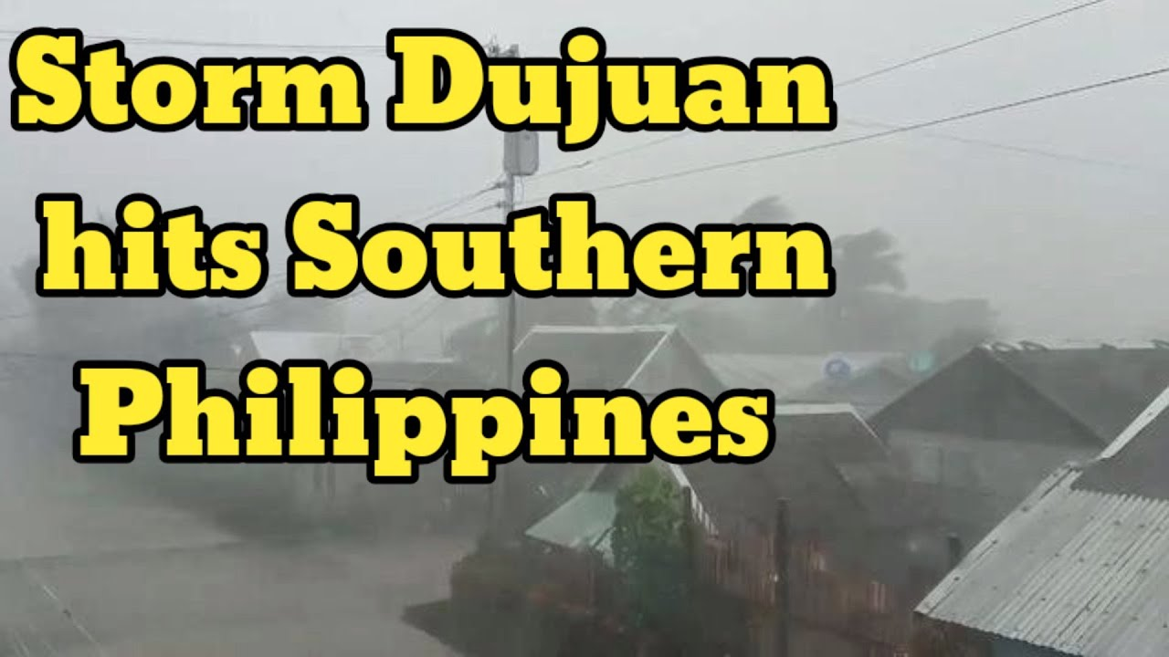 Storm Dujuan Strikes Southern Philippines, thousands flee homes