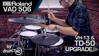 Roland VAD 706 electronic drum kit with TD-50 module & VH-13 from drum tec
