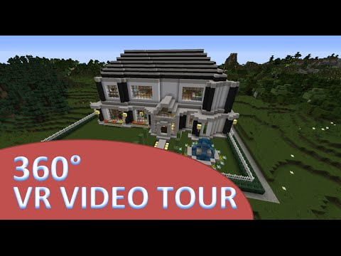 VR  Minecraft Mansion Tour - 360 Degree Video