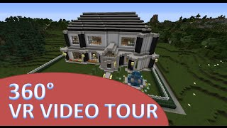 VR  Minecraft Mansion Tour - 360 Degree Video(First of it's kind! Take a visit of my Minecraft home in Virtual Reality! Hold your phone up (like taking a photo) and move the phone to see all 360 degrees!, 2016-01-09T00:04:50.000Z)