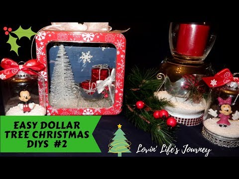 Easy Dollar Tree Christmas DIYs #2 | Christmas Decor and Gift Ideas