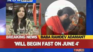 2 days to go, Baba Ramdev still adamant