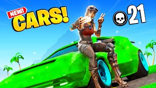 21 Kill Solo Squads In Season 3 Fortnite (New Cars!)