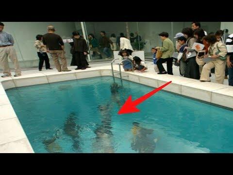 Ada Kolam renang ajaib !! Berenang tapi gak bisa basah, ternyata..