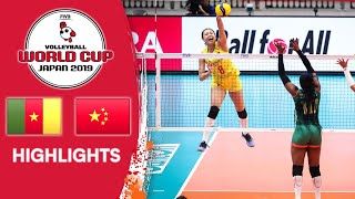 CAMEROON vs. CHINA - Highlights | Women's Volleyball World Cup 2019