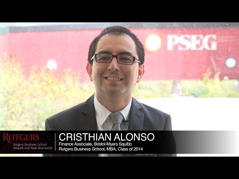 Rutgers is the business school where pharma companies come to recruit, Cristhian, MBA '14