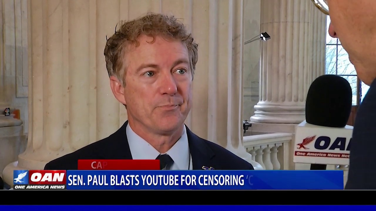 Sen. Paul blasts YouTube for censoring 'conservative speech' - OAN