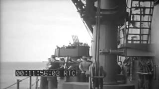 Scenes Aboard CV; Cruiser In Heavy Seas; Fueling At Sea (full)